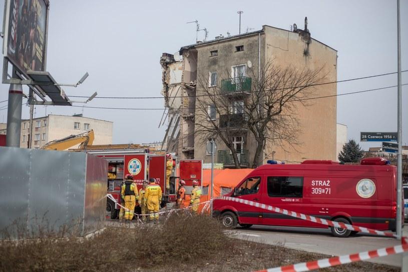 Miejsce katastrofy budowlanej w Poznaniu /fot. Jakub Walasek /Reporter