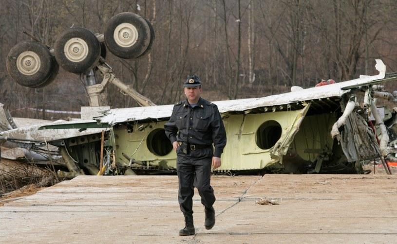 Miejsce katastrofy samolotu prezydenckiego Tu 154M /Stefan Maszewski /Reporter