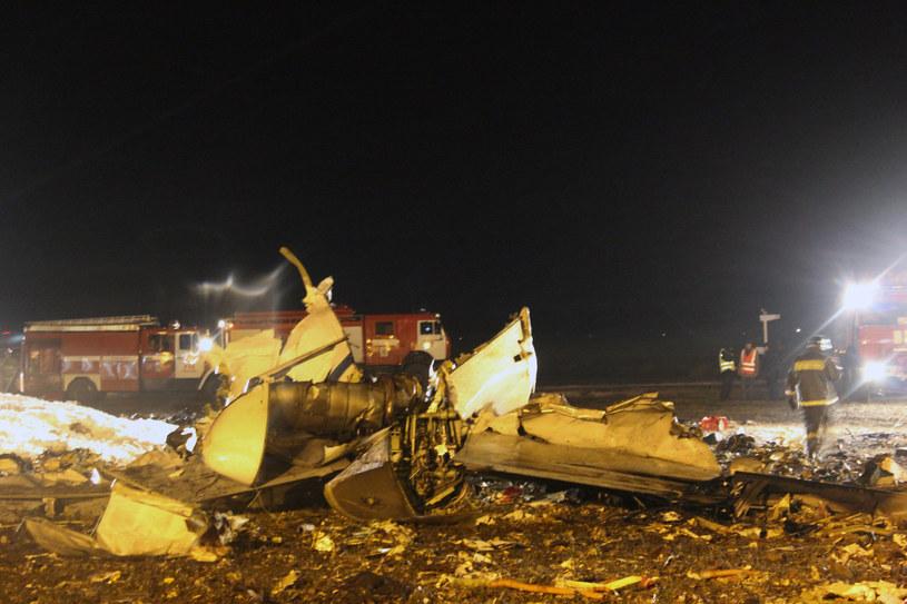 Miejsce katastrofy samolotu /AFP /AFP