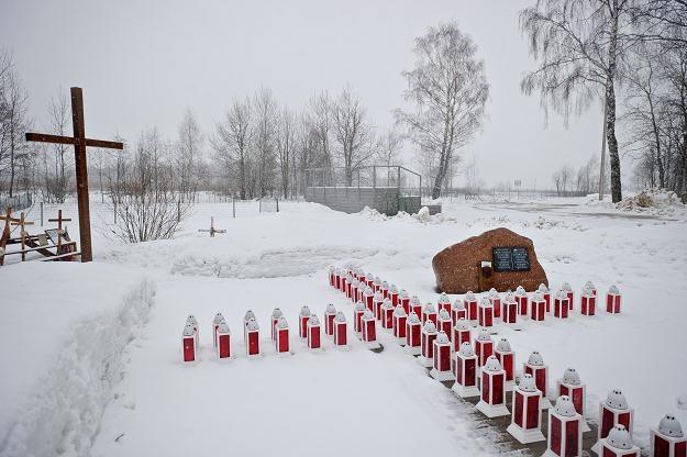 Miejsce katastrofy TU-154M dzień przed drugą rocznicą wypadku., fot. W. Pacewicz /PAP