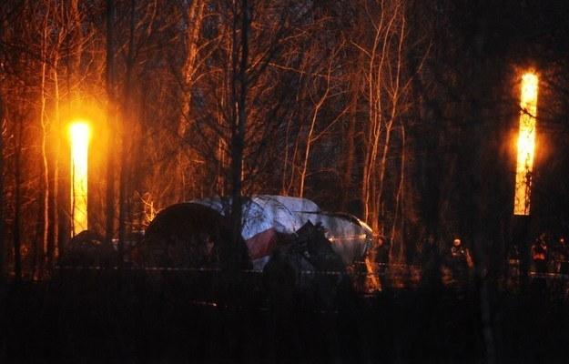 Miejsce katastrofy w Smoleńsku /AFP