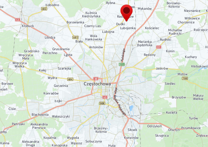 Miejsce katastrofy /Mapy.interia.pl
