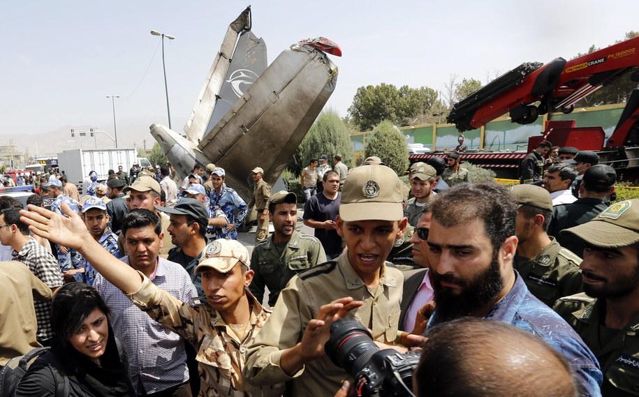 Miejsce katastrofy /Abedin Taherkenareh   /PAP/EPA