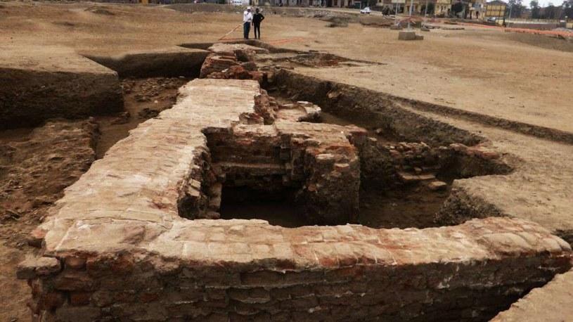 Miejsce prowadzenia wykopalisk - starożytne łaźnie w Sais /Fot. Egipskie Ministerstwo Antyków /materiały prasowe