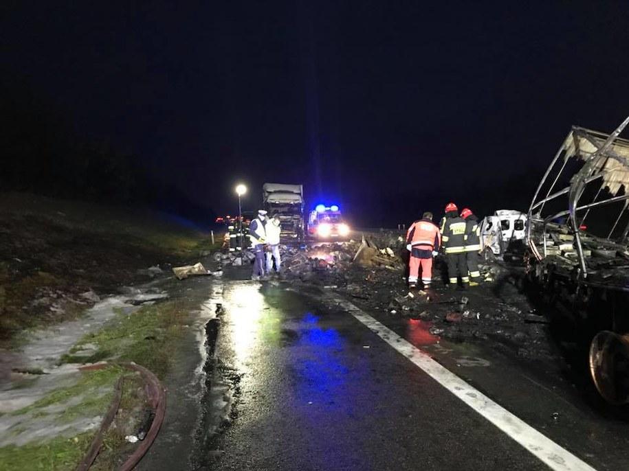 Miejsce tragicznego wypadku /Pomoc Drogowa Wal-Car Ratownictwo Drogowe /Facebook