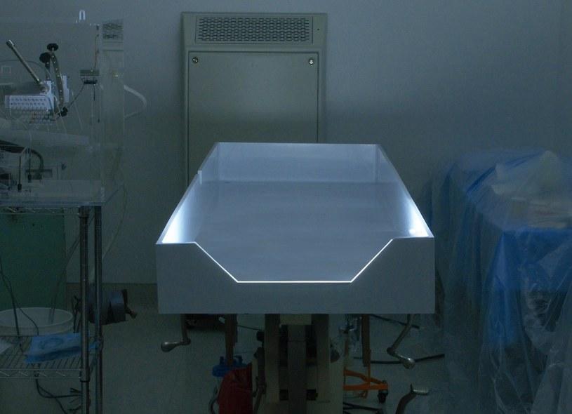 Miejsce w którym pacjent jest przygotowywany do zabieg krionicznego - fotografia ze strony Alcor Life Extension Foundation /materiały prasowe
