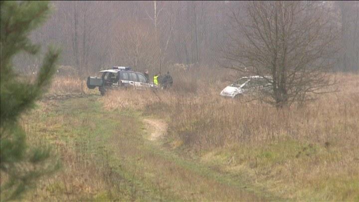 Miejsce, w którym znaleziono porzucone auto Mariusza N. /TVN24/x-news