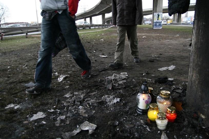 Miejsce wypadku Macieja Zientarskiego /Edyta Ganc /Reporter