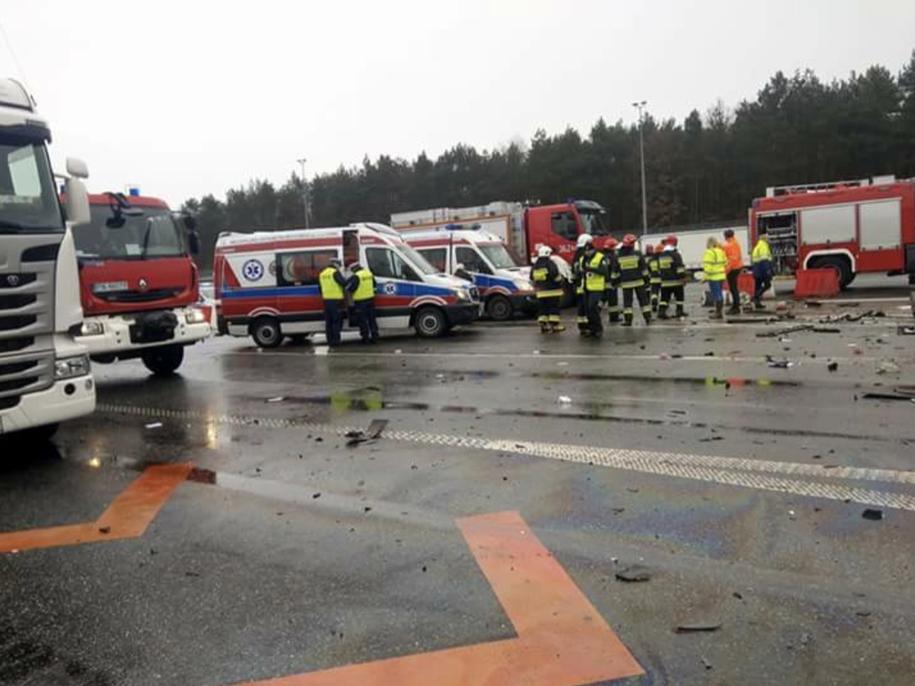Miejsce wypadku na autostradzie A2 /Piotr /Gorąca Linia RMF FM