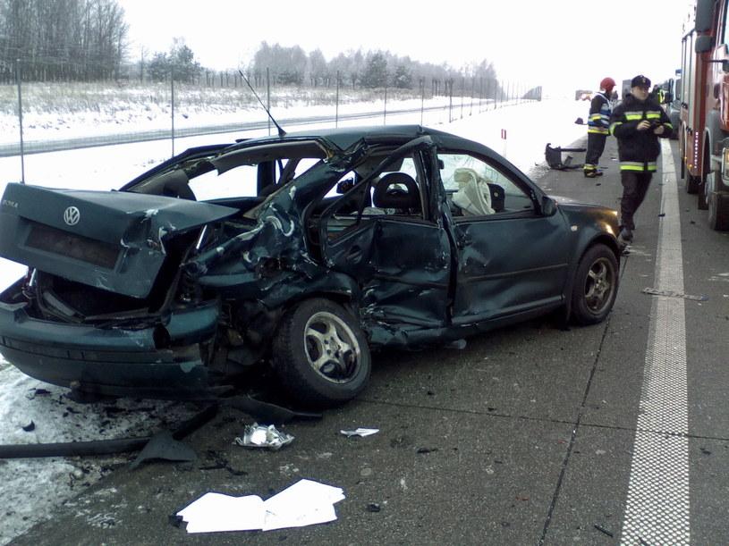 Miejsce wypadku na drodze S8 /PAP