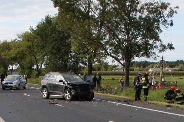 Miejsce wypadku... /PAP