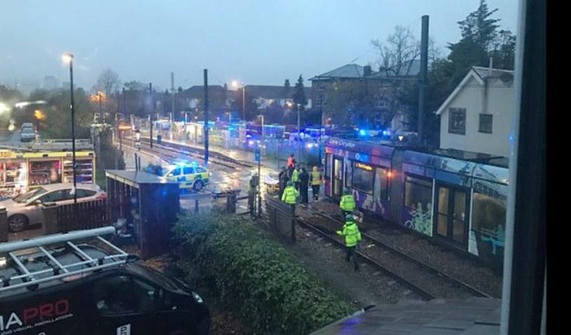 Miejsce wypadku /EPA/LONDON AMBULANCE SERVICE /PAP/EPA