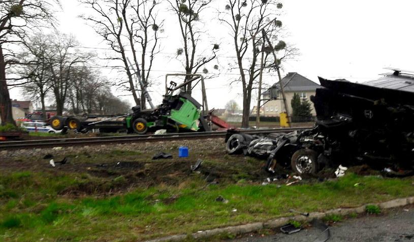 Miejsce wypadku /Grzegorz Suteniec /PAP