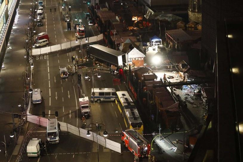 Miejsce zamachu tuż po ataku /AFP