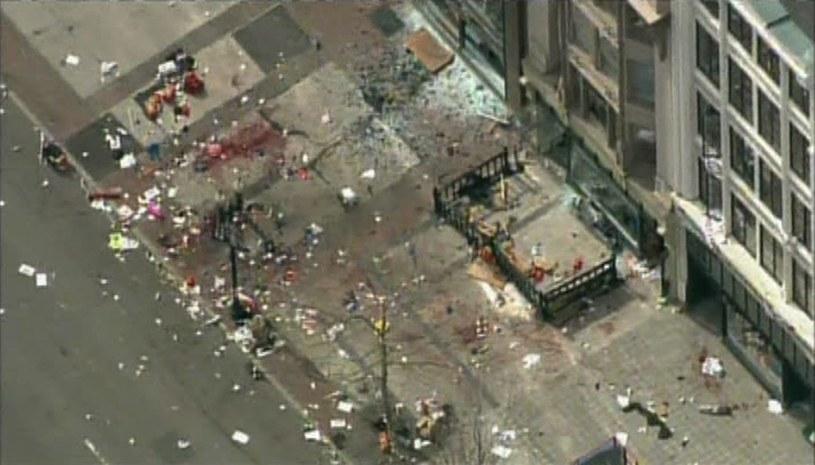 Miejsce zamachu w Bostonie /Agencja FORUM