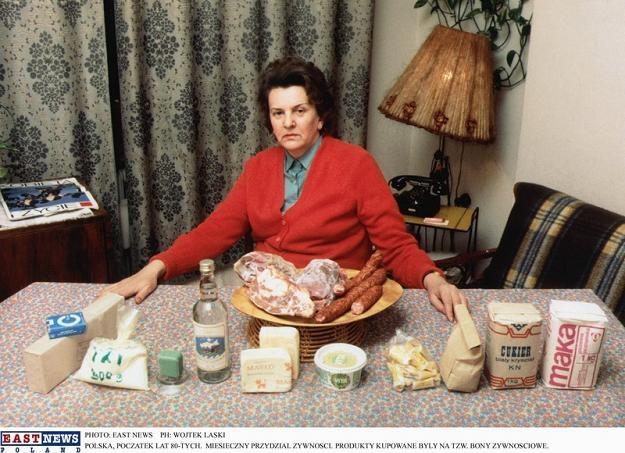Miesięczny przydział żywności, fot. Wojtek Laski /East News