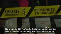 Mieszkańcy Europy manifestują wsparcie dla Syryjczyków