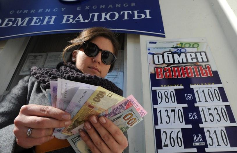 Mieszkańcy Krymu wymieniali hrywny na ruble /AFP