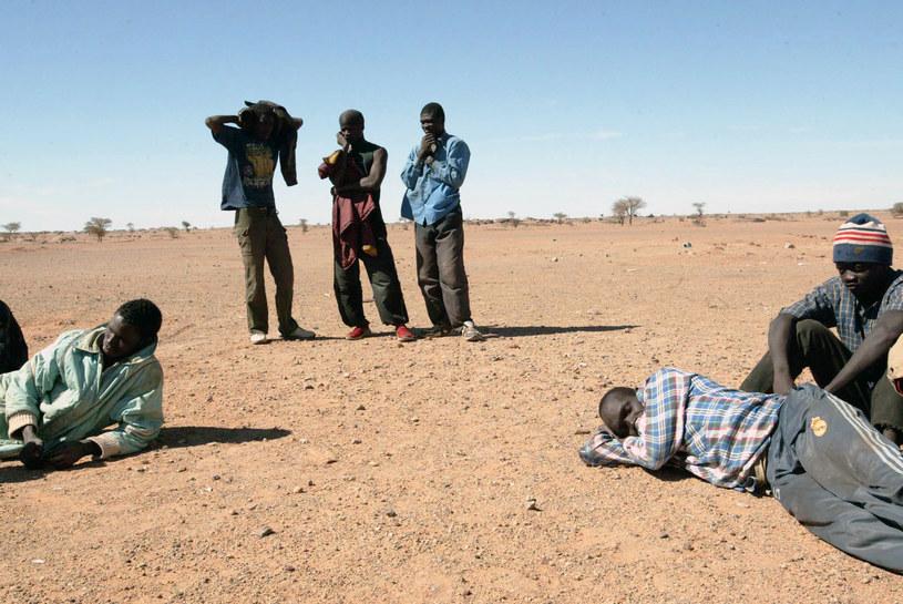 Migranci porzuceni na pustyni /FAYEZ NURELDINE /AFP