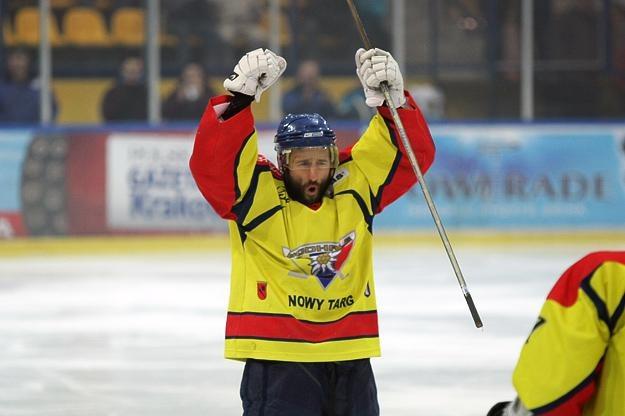 Milan Baranyk, snajper MMKS Podhala Nowy Targ fot: Tadeusz Bącal /INTERIA.PL