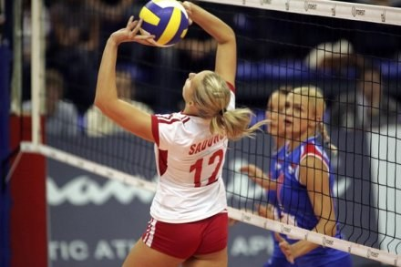 Milena Sadurek nie odmieniła dzisiaj słabej gry Polek. /AFP