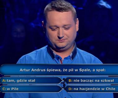 """""""Milionerzy"""": Pytanie o przebój Artura Andrusa za 40 tys. zł"""