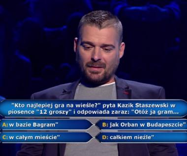 """""""Milionerzy"""": Pytanie o przebój Kazika za 40 tys. zł"""