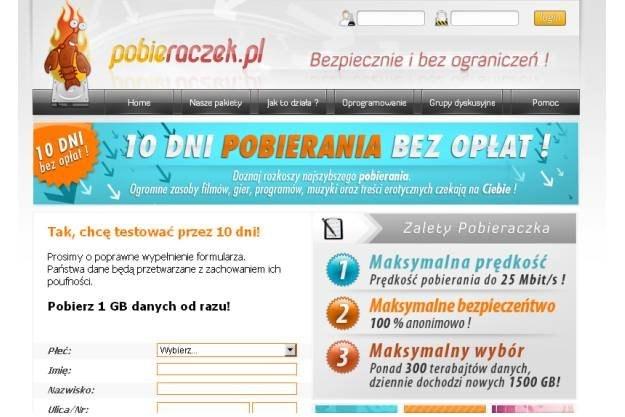 Mimo decyzji UOKiK, serwis Pobieraczek.pl nie zmienił informacji na swojej stronie /materiały prasowe