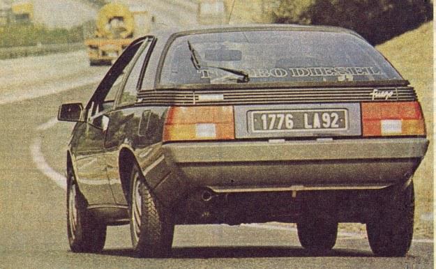 Mimo pięciu biegów domeną Renault Fuego z silnikiem wysokoprężnym będą nie tylko autostrady, lecz i zwykłe kręte drogi. Silnik, dzięki turbodoładowaniu, jest bowiem bardzo elastyczny, o czym świadczy choćby prędkość obrotowa 2000 obr./min przy której występuje moment maksymalny. /Motor