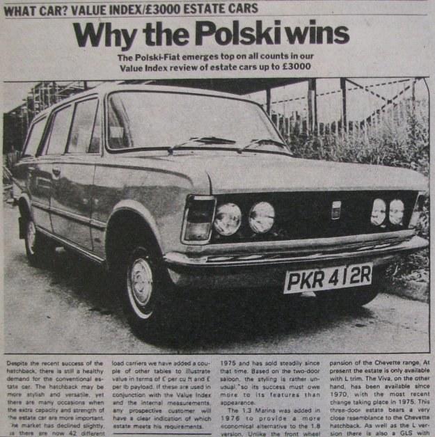 Mimo podwyżki ceny Polskiego Fiata 125p (naturalnie nie 124 - podkreślają Anglicy) samochód jest poszukiwany na rynku angielskim. /Motor