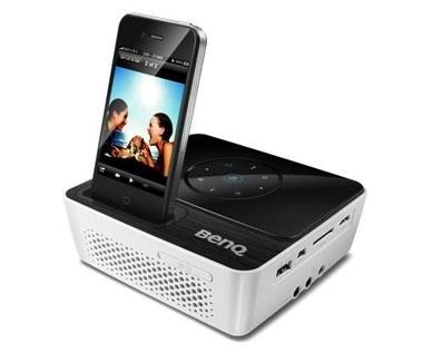 Mini projektor LED z gniazdem dla iPhone'a i iPoda
