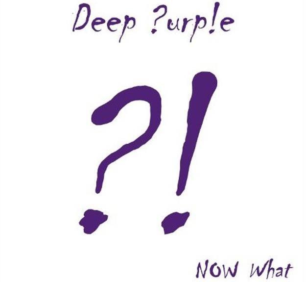 """Minimalistyczna okładka albumu """"Now What?!"""" Deep Purple /"""