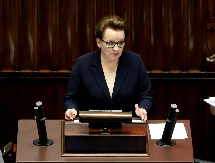 Minister edukacji Anna Zalewska /Tomasz Gzell /PAP