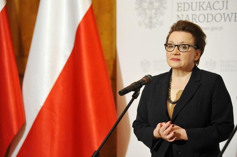 Minister edukacji narodowej Anna Zalewska /fot. Piotr Smoliński /Reporter