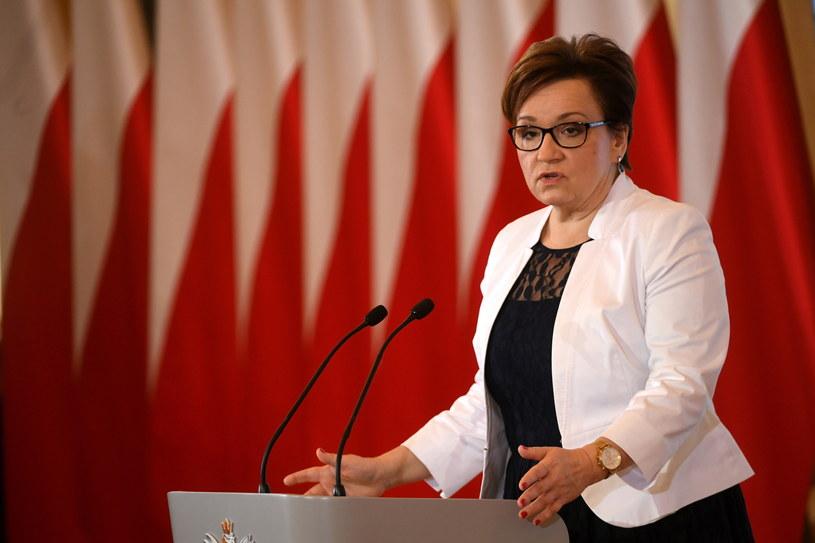 Minister edukacji narodowej Anna Zalewska /Bartłomiej Zborowski /PAP