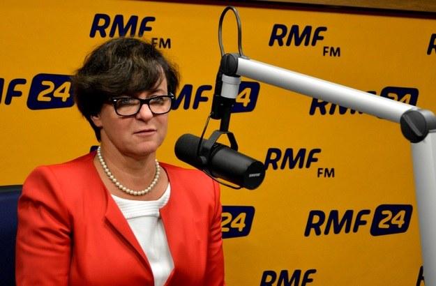 Minister edukacji narodowej Joanna Kluzik-Rostkowska /RMF FM