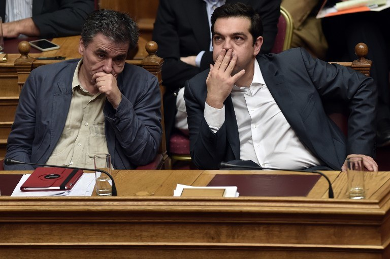 Minister finansów i premier Grecji /AFP