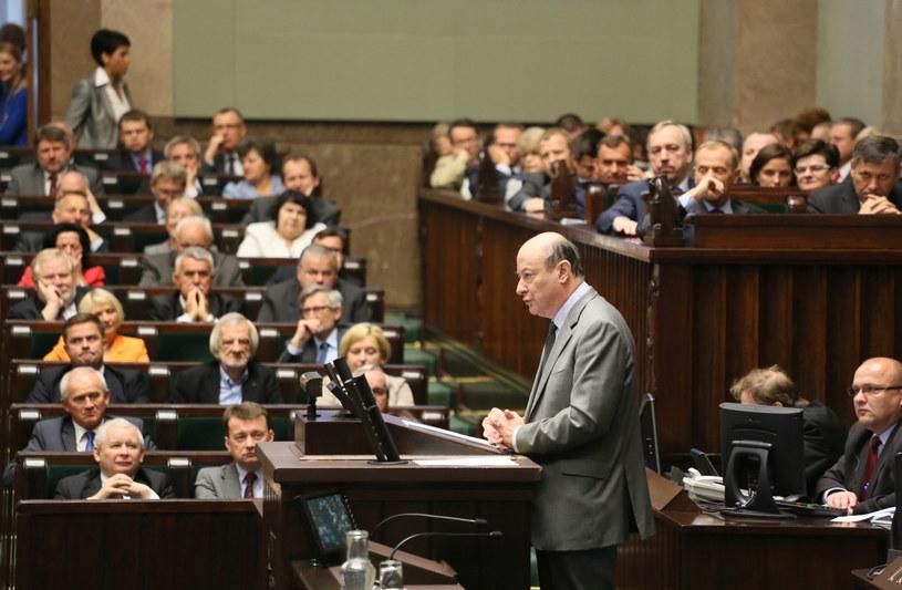 Minister Jacek Rostowski w Sejmie /Leszek Szymański /PAP