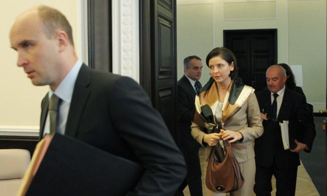 Minister Joanna Mucha stwierdziła, że powinniśmy być dumni ze Stadionu Narodowego /Radek Pietruszka /PAP