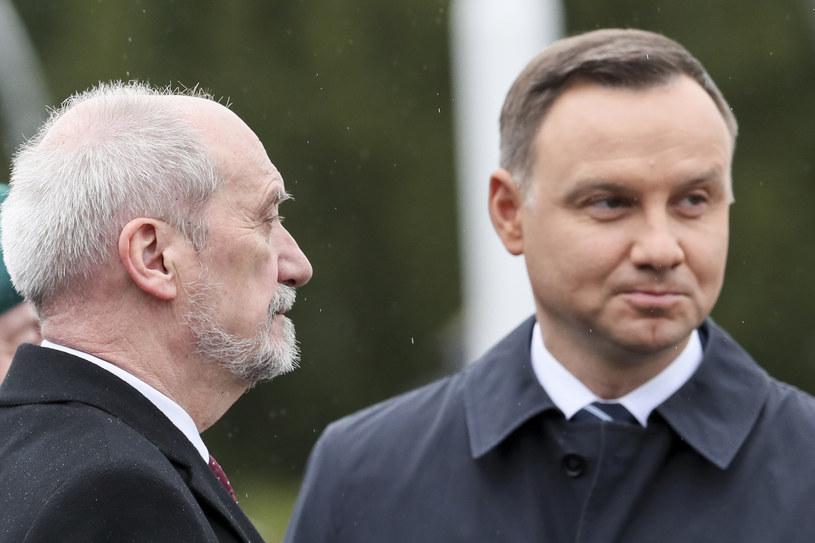 Minister obrony narodowej Antoni Macierewicz i prezydent Andrzej Duda /Andrzej Iwańczuk /Reporter