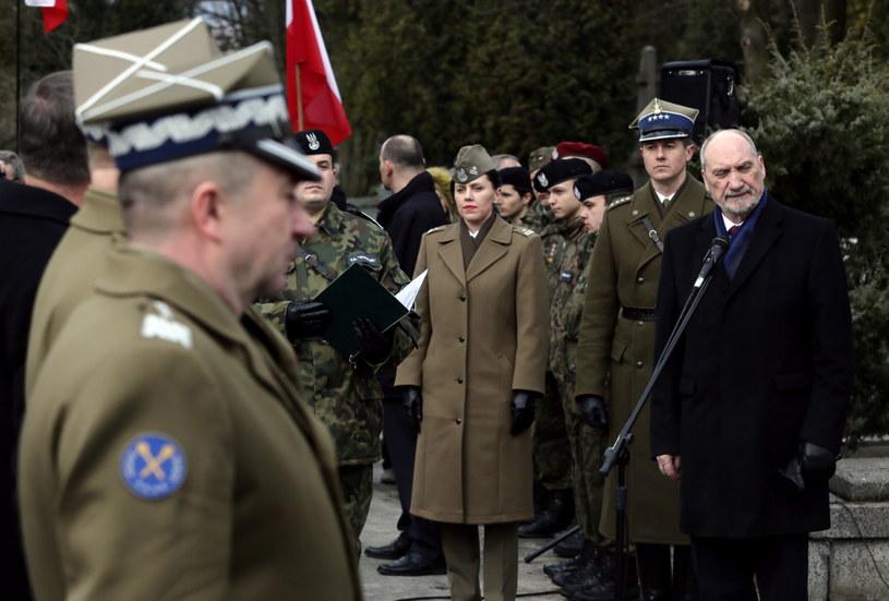 Minister obrony narodowej Antoni Macierewicz /Tomasz Gzell /PAP