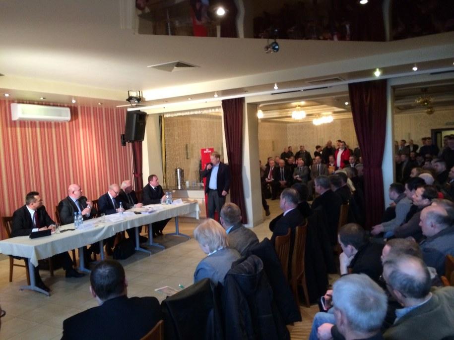 Minister rolnictwa na spotkaniu z rolnikami /Piotr Bułakowski /RMF FM
