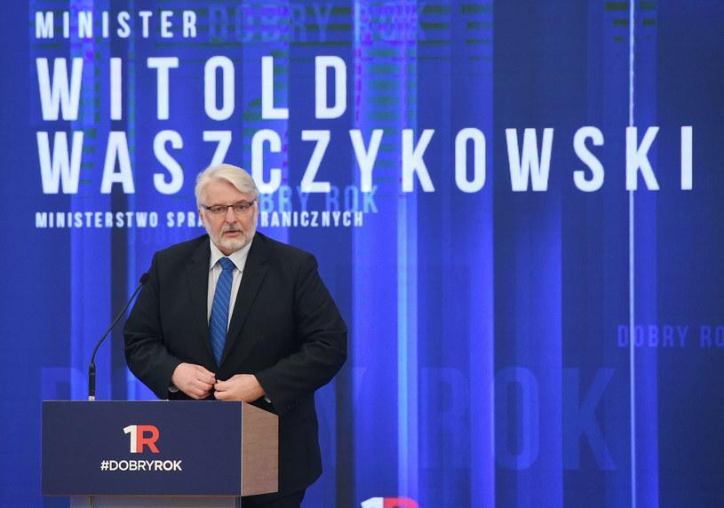 Minister spraw zagranicznych Witold Waszczykowski /Radek Pietruszka /PAP
