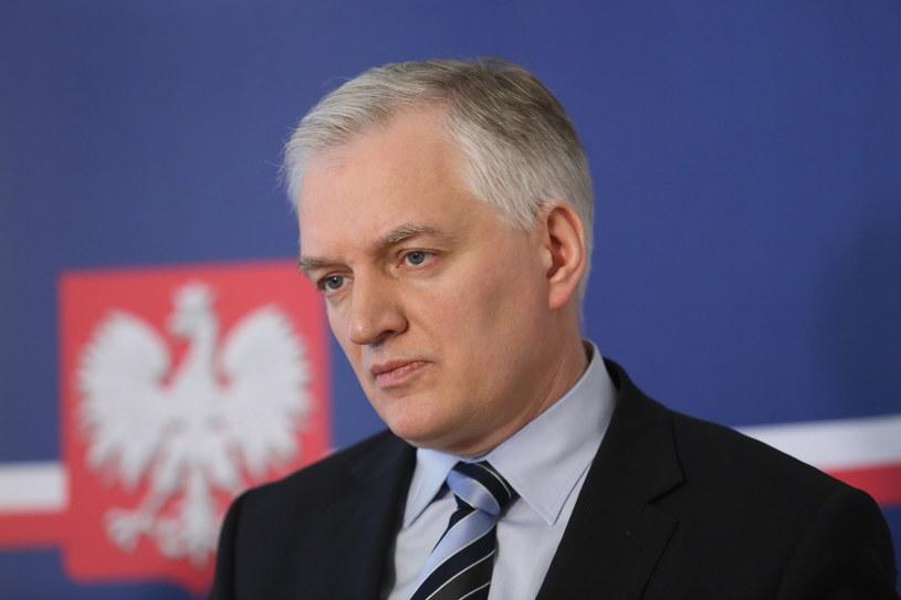 Minister sprawiedliwości Jarosław Gowin /Leszek Szymański /PAP