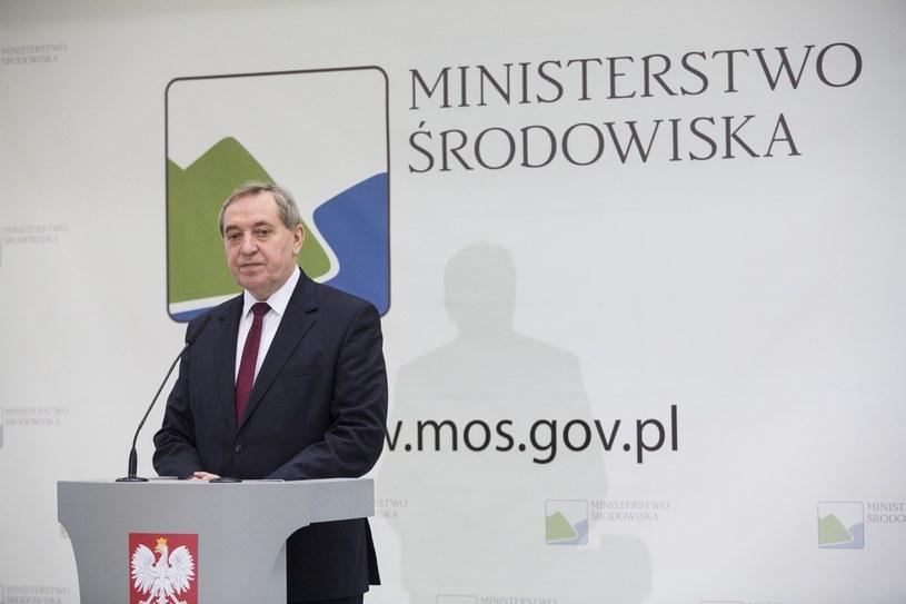 Minister środowiska Henryk Kolwaczyk /Andrzej Hulimka  /Reporter