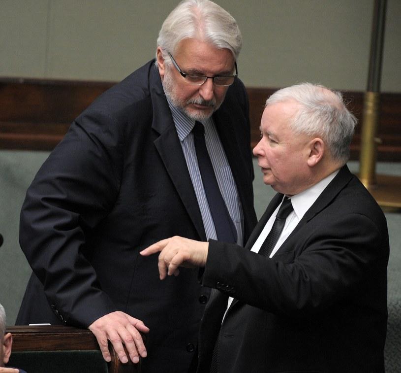 Minister Witold Waszczykowski i Jarosław Kaczyński /Jan Bielecki /East News