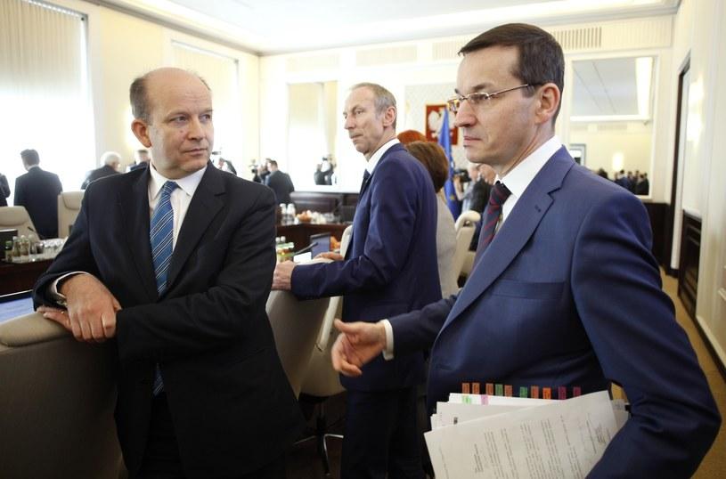 Minister zdrowia i minister finansów /Stefan Maszewski /Reporter