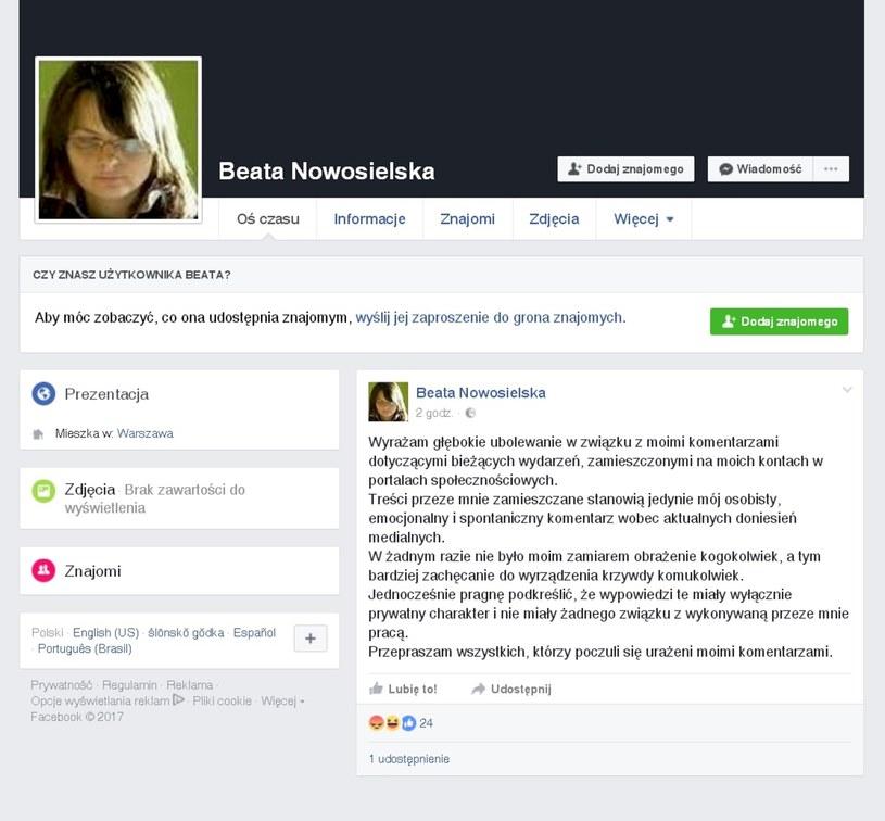Ministerstwo wyraziło dezaprobatę wobec wpisu Beaty Nowosielskiej na temat Donalda Tuska. /East News