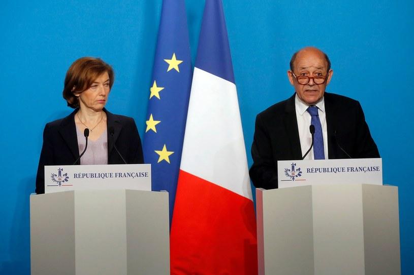 Ministrowie obrony i spraw zagranicznych Francji /MICHEL EULER  /AFP