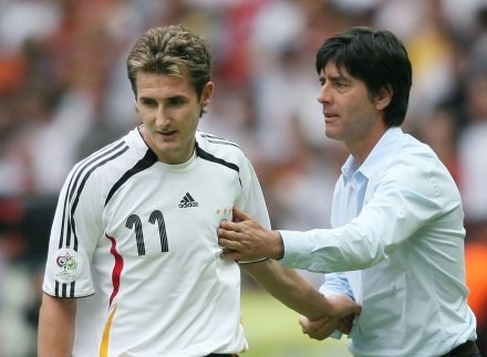 Miroslav Klose i Joachim Loew /AFP